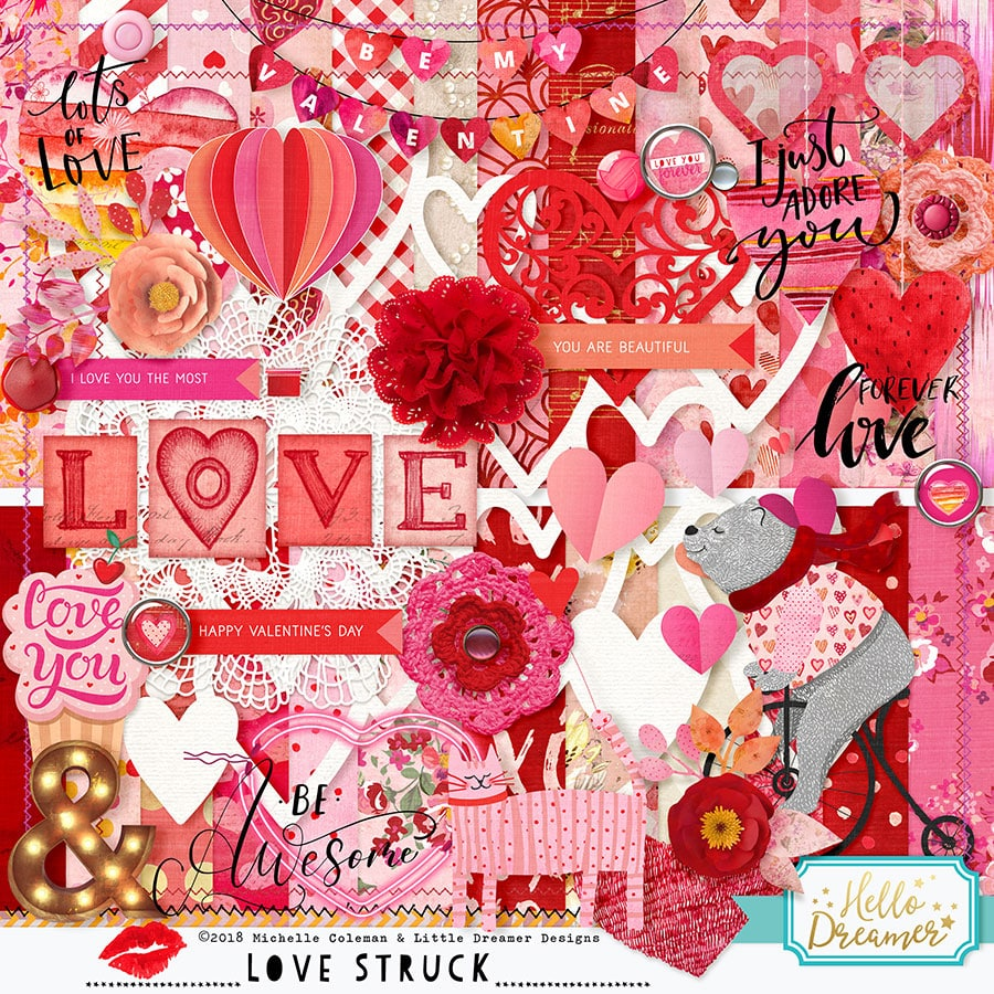 Digital Scrapbooking Papers and Embellishments