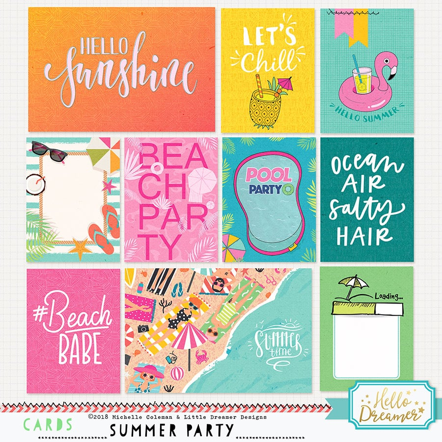 Summer Party Cards