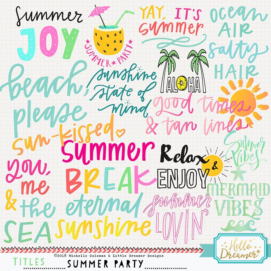 Summer Party Titles